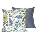 Imperial Dress Blue Throw Pillow (Set of 2)