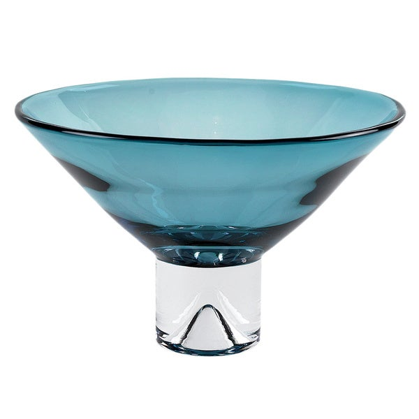 Monaco Peacock Blue Glass Bowl