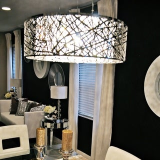 Maxim Inca 9-light Chrome Finish Pendant
