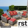 RST Brands Cannes 6-piece Love Seat and Club Chairs Set