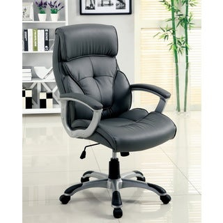 Furniture of America 'Dilbry' Pneumatic Height Adjustable Tufted Leatherette Office Chair