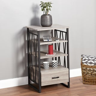 Simple Living Seneca XX 3-shelf Grey/ Black Pier with Drawer