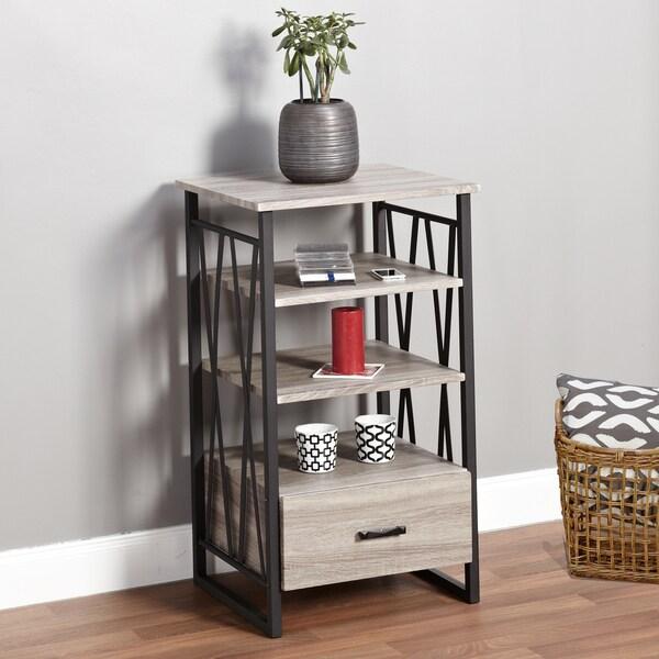 Simple Living Seneca Xx 3 Shelf Grey Black Pier With