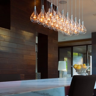 Larmes 24-light Chrome Linear Pendant