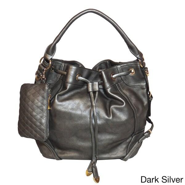 Jessica's Secret Drawstring Hobo Shoulder Bag