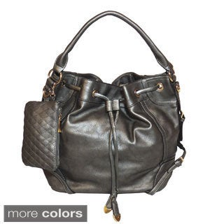 Jessica's Secret Drawstring Hobo Shoulder Bag
