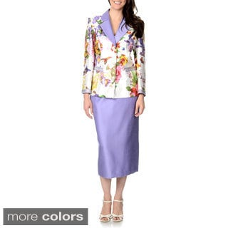 Giovanna Signature Women's 2-piece Floral Skirt Suit