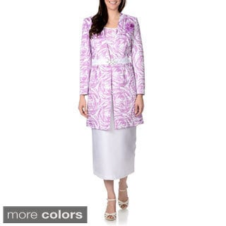 Giovanna Signature Women's 3-piece Long Jacket Skirt Suit