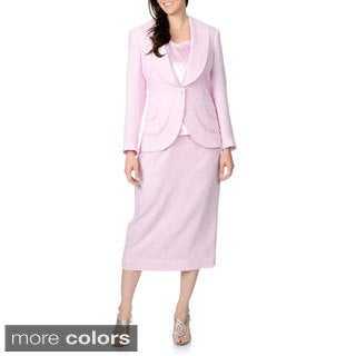Giovanna Signature Women's 3-piece Single Breasted Skirt Suit