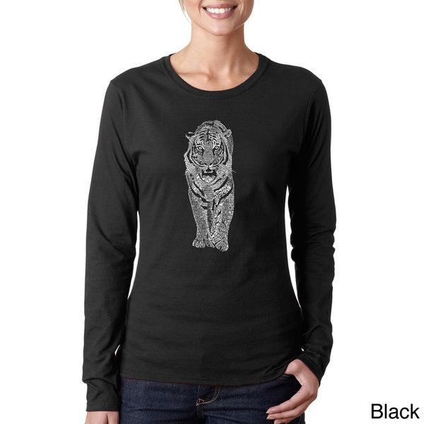 Los Angeles Pop Art Women's 'Tiger' Long Sleeve T-shirt 12563805