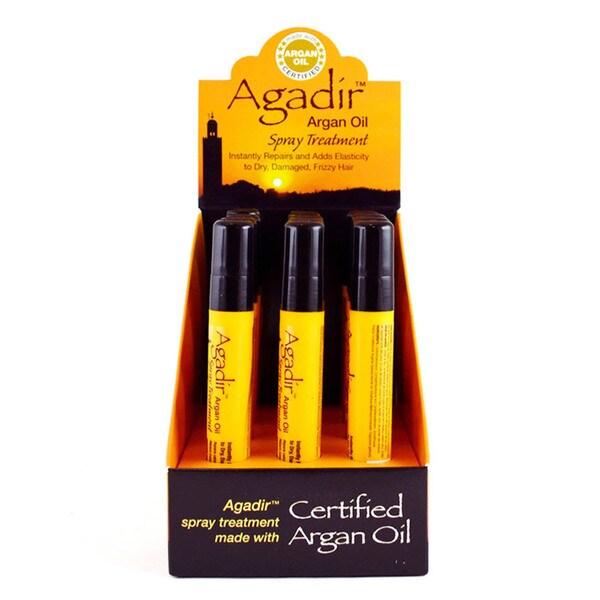 Agadir Argan Oil Spray 0.3-ounce Hair Treatments (Pack of 12)