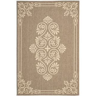 Safavieh Indoor/ Outdoor Courtyard Brown/ Creme Rug (7'10 x 10')