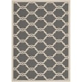 Safavieh Indoor/ Outdoor Moroccan Courtyard Anthracite/ Beige Rug (2'7 x 5')