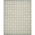 Isaac Mizrahi by Safavieh Fashion Grid Dark Grey/ Charcoal Wool Rug (8' x 10')