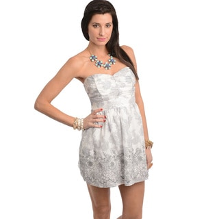 Feellib Women's Ivory Grey Dress