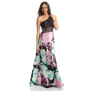 Betsy & Adam Women's One Shoulder Dress