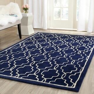 Safavieh Handmade Moroccan Chatham Dark Blue/ Ivory Wool Rug (8'9 x 12')