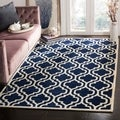 Safavieh Handmade Moroccan Chatham Dark Blue/ Ivory Wool Rug (10' x 14')