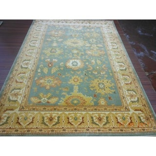 Safavieh Heirloom Blue/ Creme Rug (6'7 x 9'1)