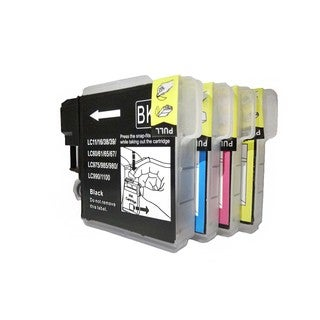 Compatible Brother LC61 Ink Cartridge (Pack of 4)