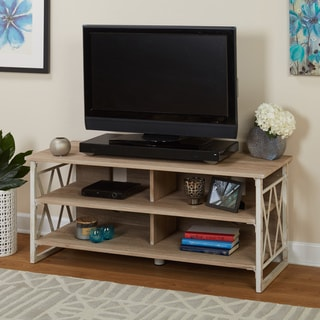 Simple Living Seneca XX 48-inch Black/ Grey TV Stand