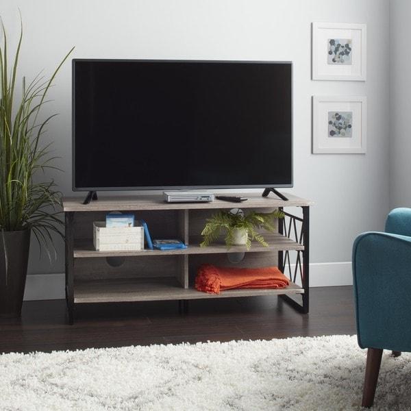 Simple Living Seneca XX 48-inch Black/ Grey TV Stand