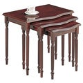 Cherry Wood 3-piece Nesting Table Set