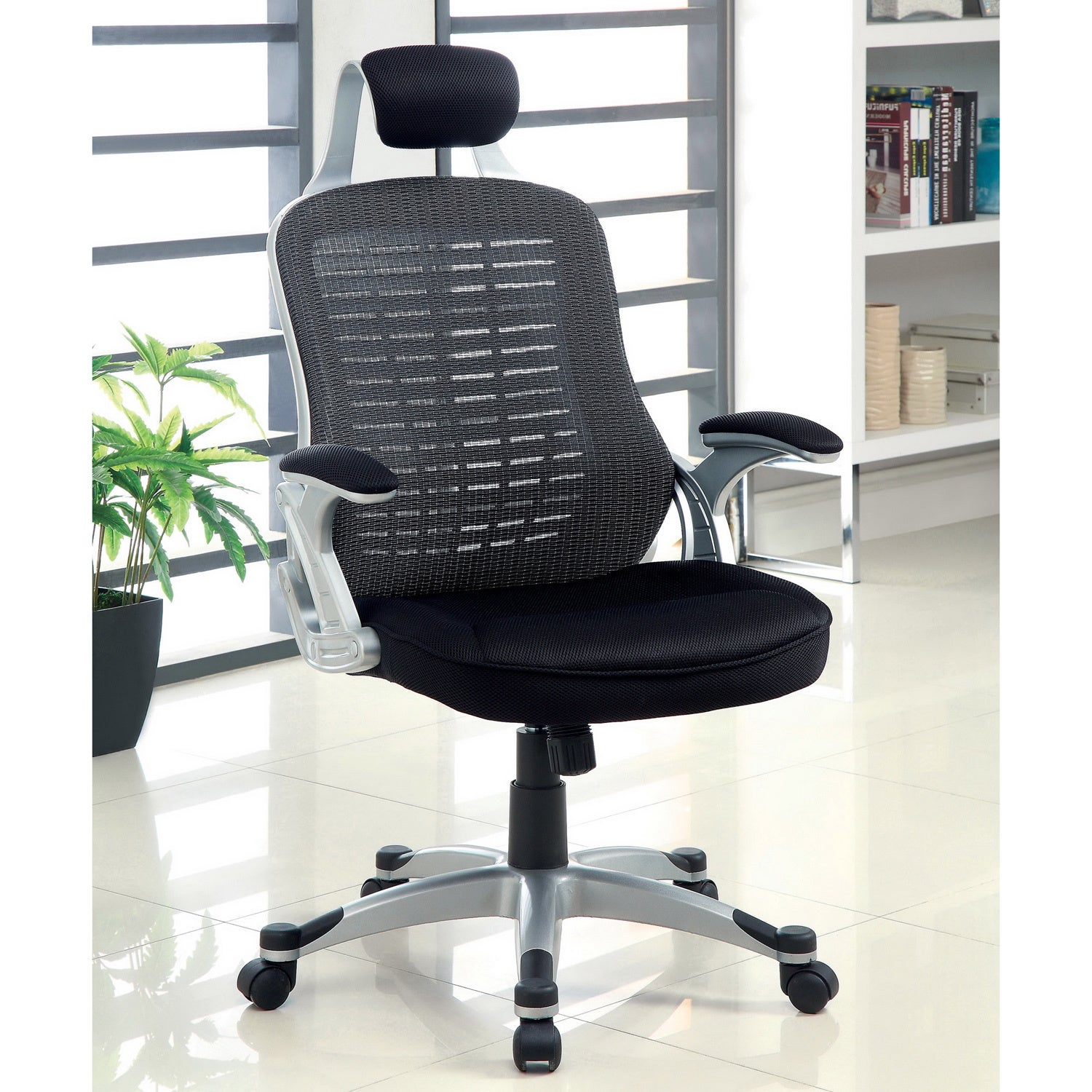 Furniture of America Cresta Pneumatic Height Adjustable Mesh Executive Office Chair at Sears.com