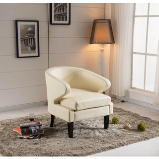 Arbonni Modern Ivory Accent Chair