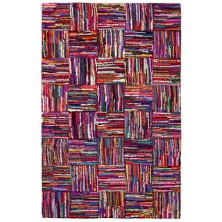 Brilliant Ribbon Tiles Rug (4' x 6')