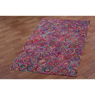 Brilliant Ribbon Circles Rug (8' x 10')