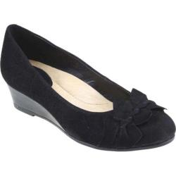 Women's Earth Teaberry Black Kid Suede
