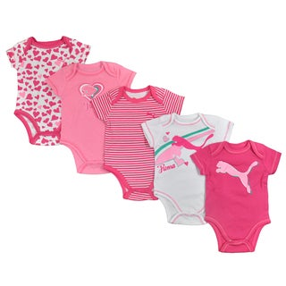 Puma Infant Girls 5-piece Pink Bodysuit Set