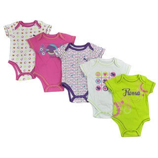 Puma Infant Girls Multi-color Bodysuit (Set of 5)
