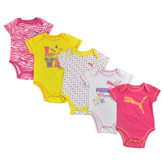 Puma Infant Girls 5-piece Multi-colored Bodysuit