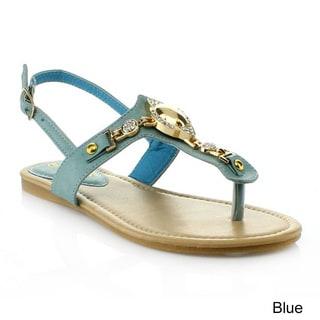 Anna Women's 'POP-3' T-strap Slingback  Sandals