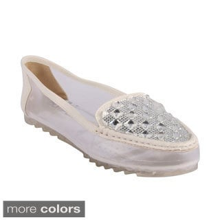 Bumper Women's 'Tyra-01' Pyramid Studded Loafer Flats