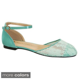 Be Intouch Women's 'Lena-1' Lace Ankle Strap Flats