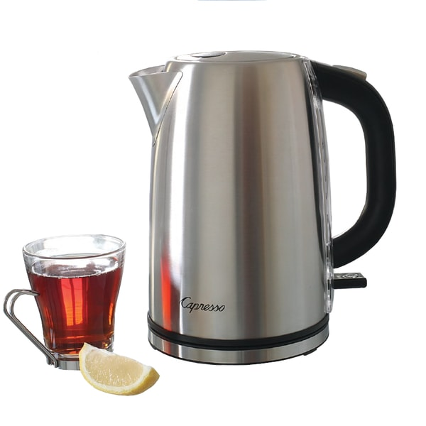 Capresso H2O Stainless Steel 7-cup (56-ounce) Electric Water Kettle 12570475