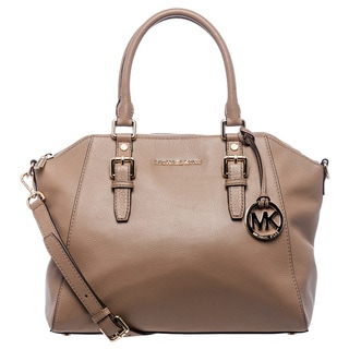 MICHAEL Michael Kors 'Bedford' Large Dark Khaki Leather Satchel
