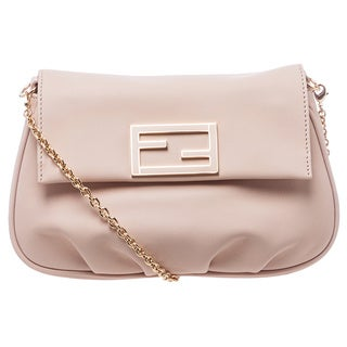 Fendi 'Fendista' Light Pink Leather Crossbody Pochette