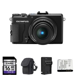 Olympus STYLUS XZ-2 iHS 12MP Black Digital Camera 16GB Bundle