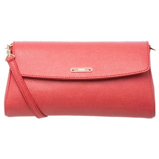 Fendi 'Crayons' Small Coral Saffiano Leather Crossbody