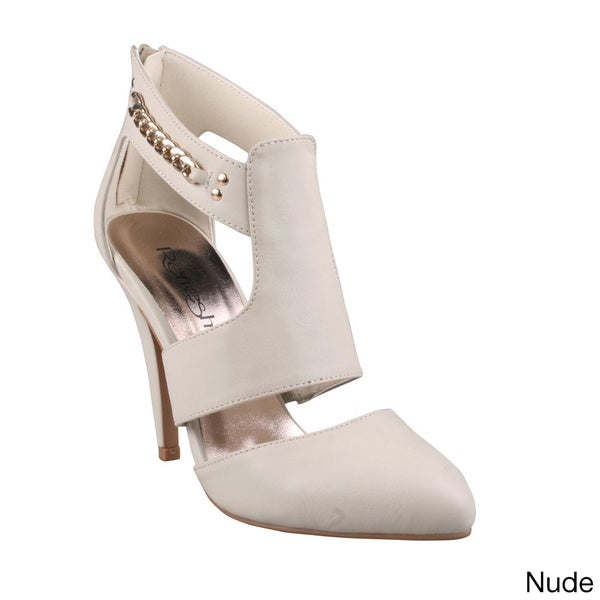 Refresh Women's 'Sophee-01' Pointed Toe Cuffed Cut-out Booties