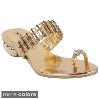 Wildrose Women's Exotic Heel Toe Ring Sandal