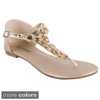 Bumper Women's Rhinestone Closed-back Flat Sandals