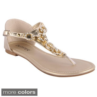 Bumper Women's Rhinestone Closed-back Flat Sandals