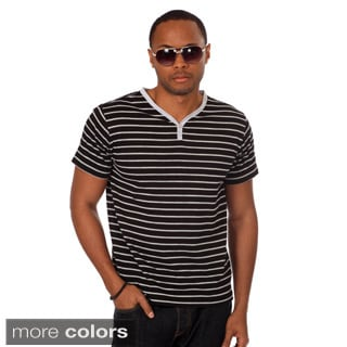 Something Strong Men's Contrast Pocket Henley Tee