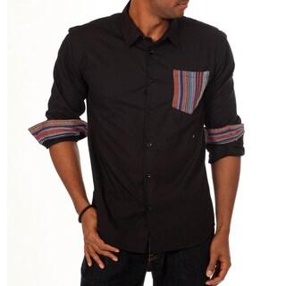 Nothing Men's Slim Fit Contrast Pocket Solid Shirt