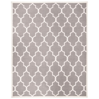 Safavieh Hand-woven Moroccan Reversible Dhurries Grey/ Ivory Wool Rug (10' x 14')